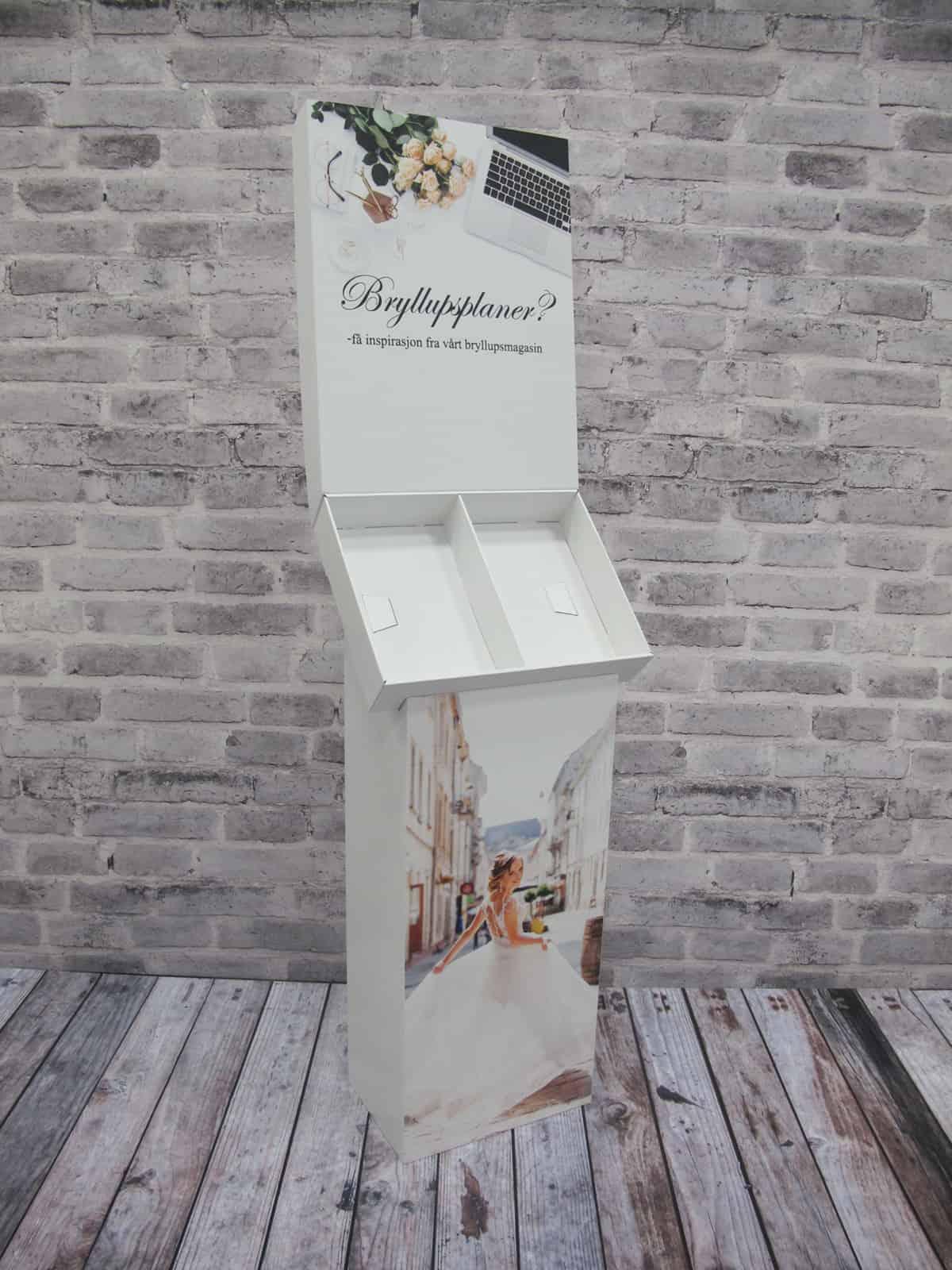 Display - Gulvdisplay / Brosjyreholder - Magasinholder Bryllup