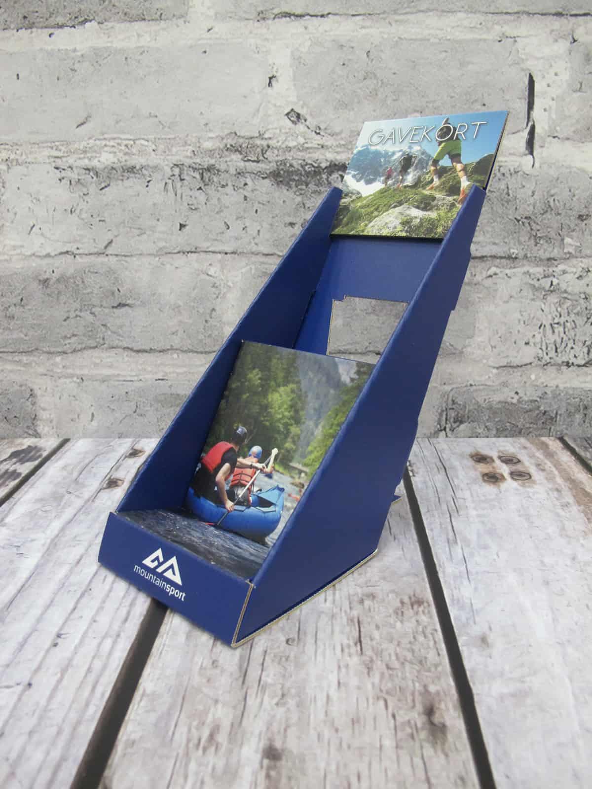 Display - Diskdisplay / Brosjyreholder - Gavekort Mountain Sport